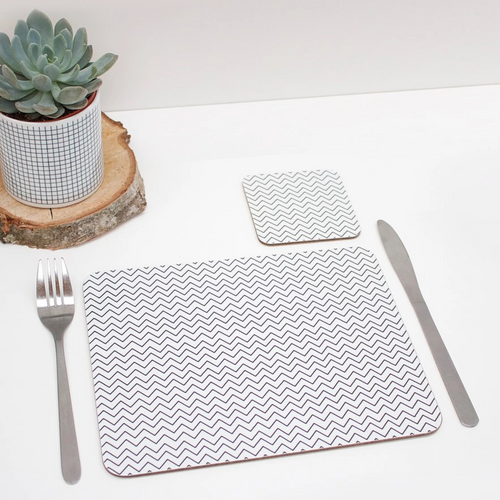 Rolfe & Wills Monochrome Patterned Placemat - Shop at the Old Fire Station