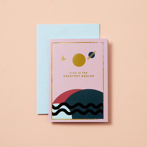 Type & Story 'Planet Earth' Hand Foiled Greeting Card Old Fire Station