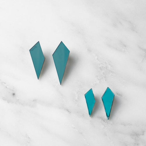 Wolf & Moon Mini Shard Studs Old Fire Station
