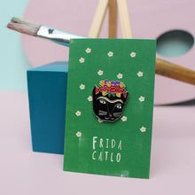 Load image into Gallery viewer, Niaski Cat Enamel Pin Badge - Shop at the Old Fire Station