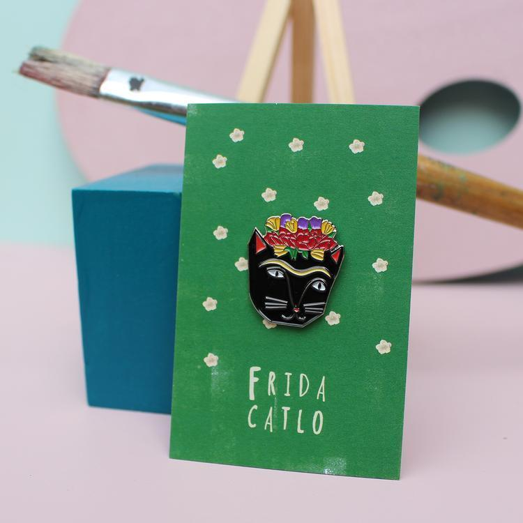 Niaski Cat Enamel Pin Badge - Shop at the Old Fire Station