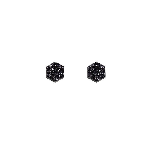 Wolf & Moon Hexagon Studs Old Fire Station