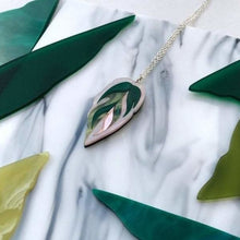 Load image into Gallery viewer, Rosa Pietsch Calathea Leaf Pendant Necklace Shop at the Old Fire Station