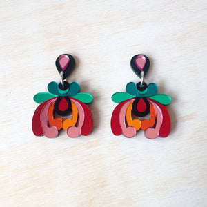 Rosa Pietsch Tropical Floral Drop Earrings Old Fire Station