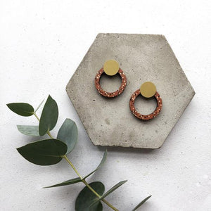 Mica Peet - Ring Stud Earrings Old Fire Station