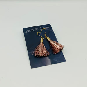 Jack & Freda Tinsel Tassel Earrings - Shop at the Old Fire Station