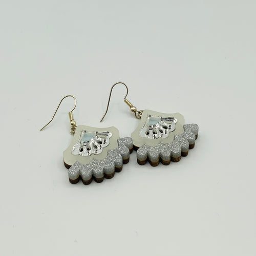 Wolf & Moon Bloom Earrings