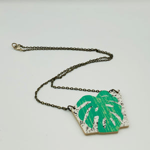 Lucie Ellen Monstera Leaf Necklace