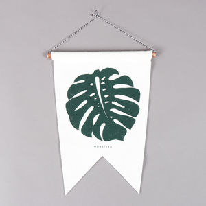 Studio Wald Monstera Felt Flag Old Fire Station