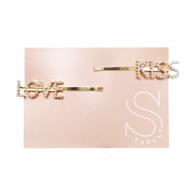 HAIR CLIP LOVE & KISS