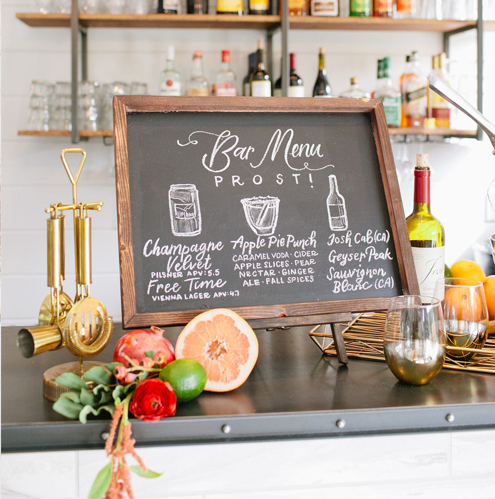 "18"" x 22"" Chalkboard Bar Sign 