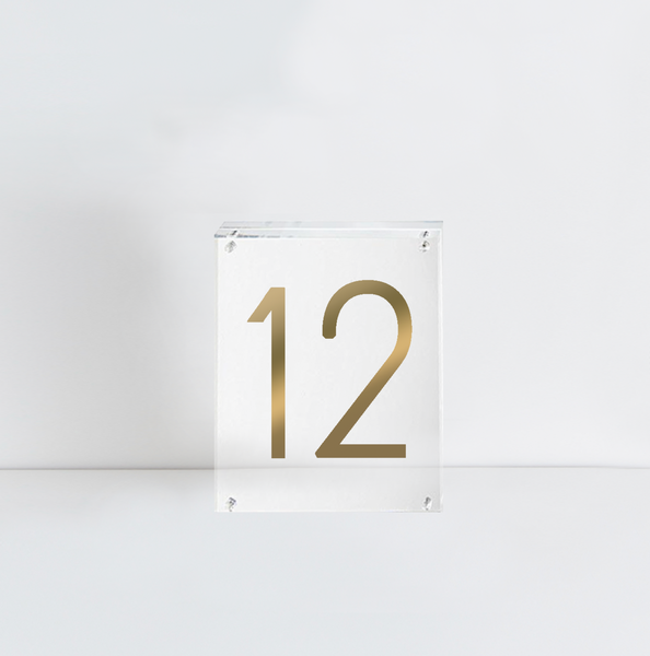 Acrylic Table Number | RENTAL