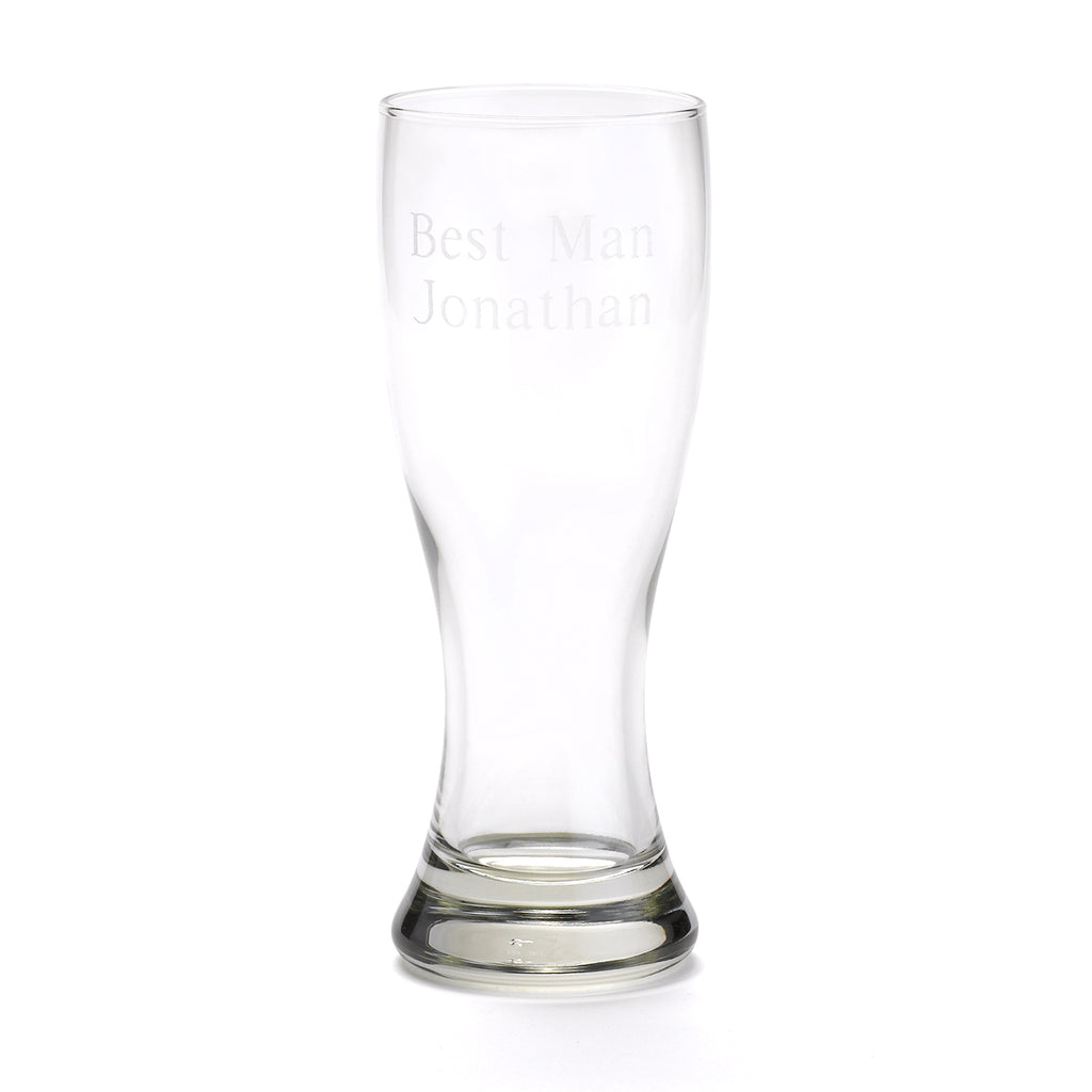 Personalized Engraved 20 oz. Beer Pilsner Glass