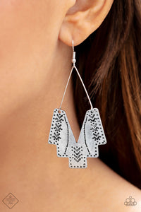 Arizona Adobe Silver Earrings - The Paparazzi Fox