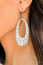 Load image into Gallery viewer, Artisan Abundance - Silver Hoop Earrings - The Paparazzi Fox