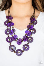 Load image into Gallery viewer, Catalina Coastin - Purple Wooden Necklace - The Paparazzi Fox