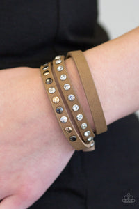 Catwalk Casual - Brown Leather Bracelet - The Paparazzi Fox