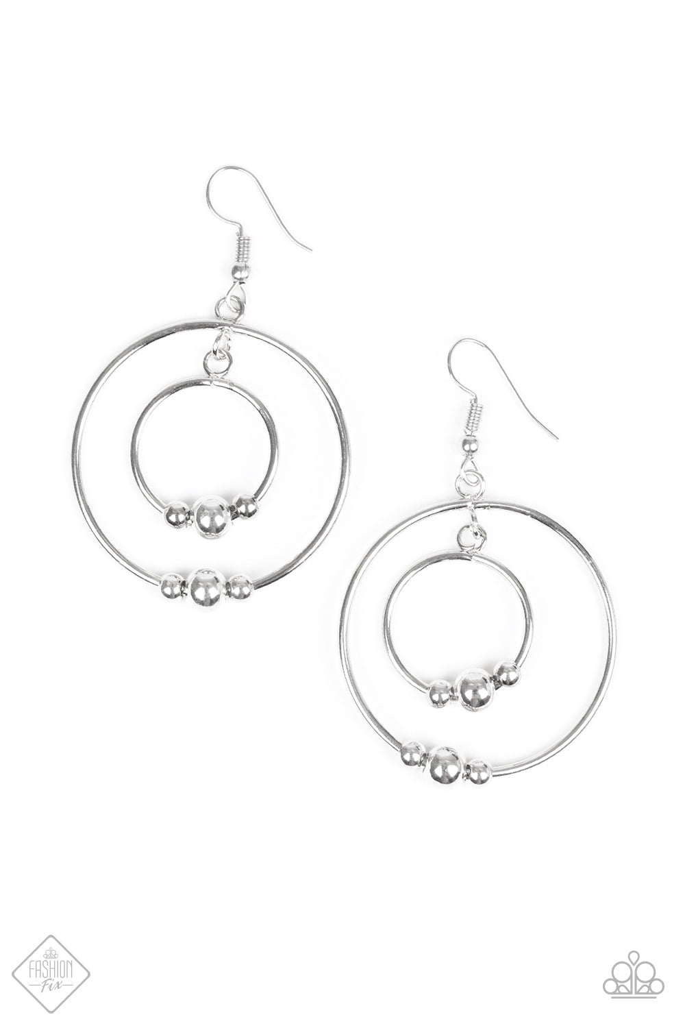 Center of Attraction - Silver Hoops - The Paparazzi Fox