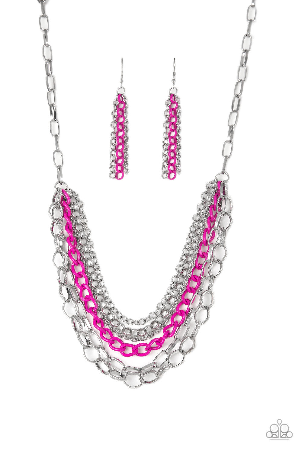 Color Bomb - Pink Necklace - The Paparazzi Fox