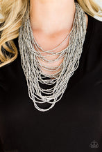 Load image into Gallery viewer, Dauntless Dazzle - Silver Seed Bead Necklace - The Paparazzi Fox