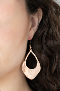 Dig Your Heels In - Rose Gold Earrings - The Paparazzi Fox