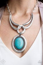 Load image into Gallery viewer, Divide and RULER - Turquoise Necklace - The Paparazzi Fox