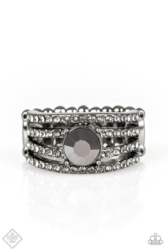 Downtown Diva - Hematite Ring - The Paparazzi Fox