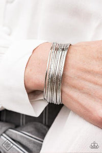Endlessly Empress - Silver Cuff Bracelet - The Paparazzi Fox