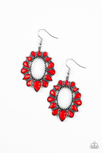Fashionista Flavor Red Earrings Paparazzi