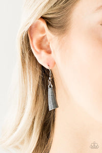 Feast or Famine Gunmetal Black Necklace Earrings