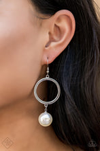 Load image into Gallery viewer, Grand Central Chic - White Pearl Hoop Earrings - The Paparazzi Fox