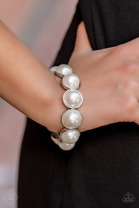 Society Socialite - White Pearl Stretch Bracelet - The Paparazzi Fox