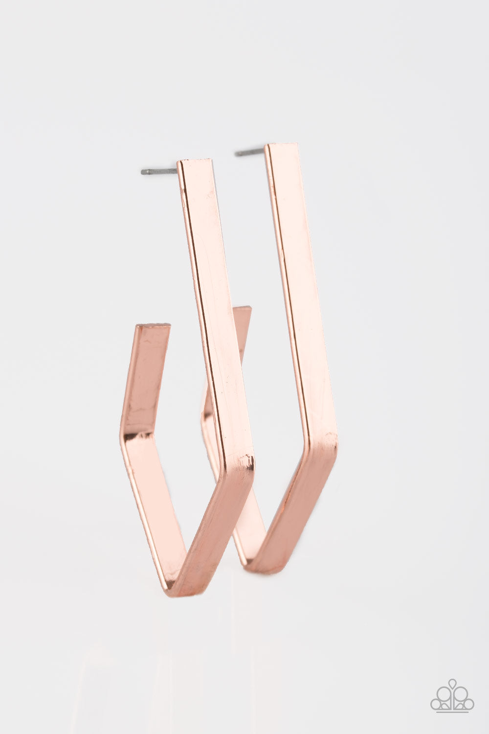 Geo Grand - Copper Earrings - The Paparazzi Fox