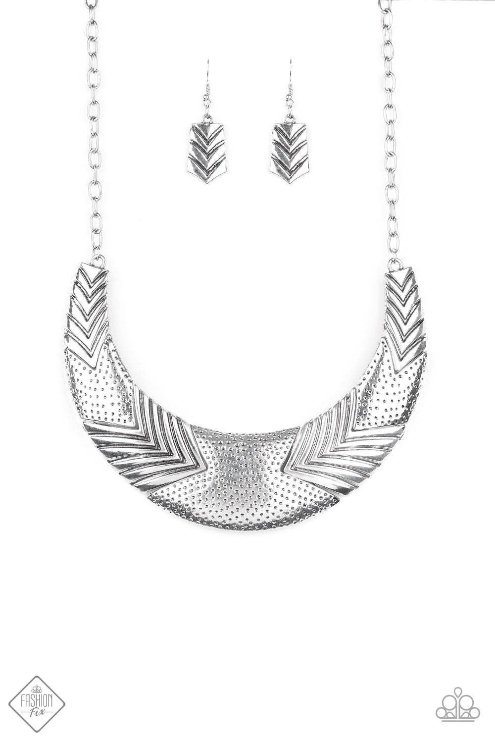 Geographic Goddess - Silver Necklace - The Paparazzi Fox