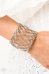 Dizzyingly Diva - Silver Cuff bracelet - The Paparazzi Fox
