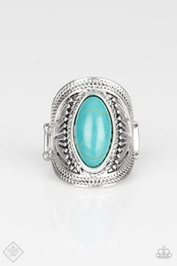 Ground RULER - Oval Turquoise Ring - The Paparazzi Fox