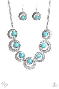 Lions, Tigers, and Bears - Turquoise Necklace - The Paparazzi Fox