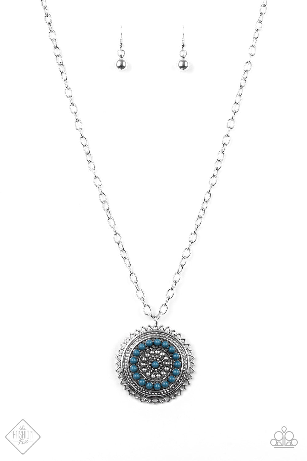 Lost SOL - Sunburst Pendant Necklace - The Paparazzi Fox