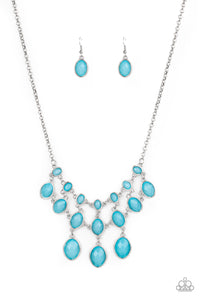 Mermaid Marmalade - Blue Necklace - The Paparazzi Fox