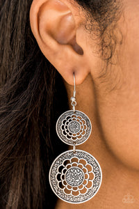 Merry Marigolds - Silver Earrings - The Paparazzi Fox