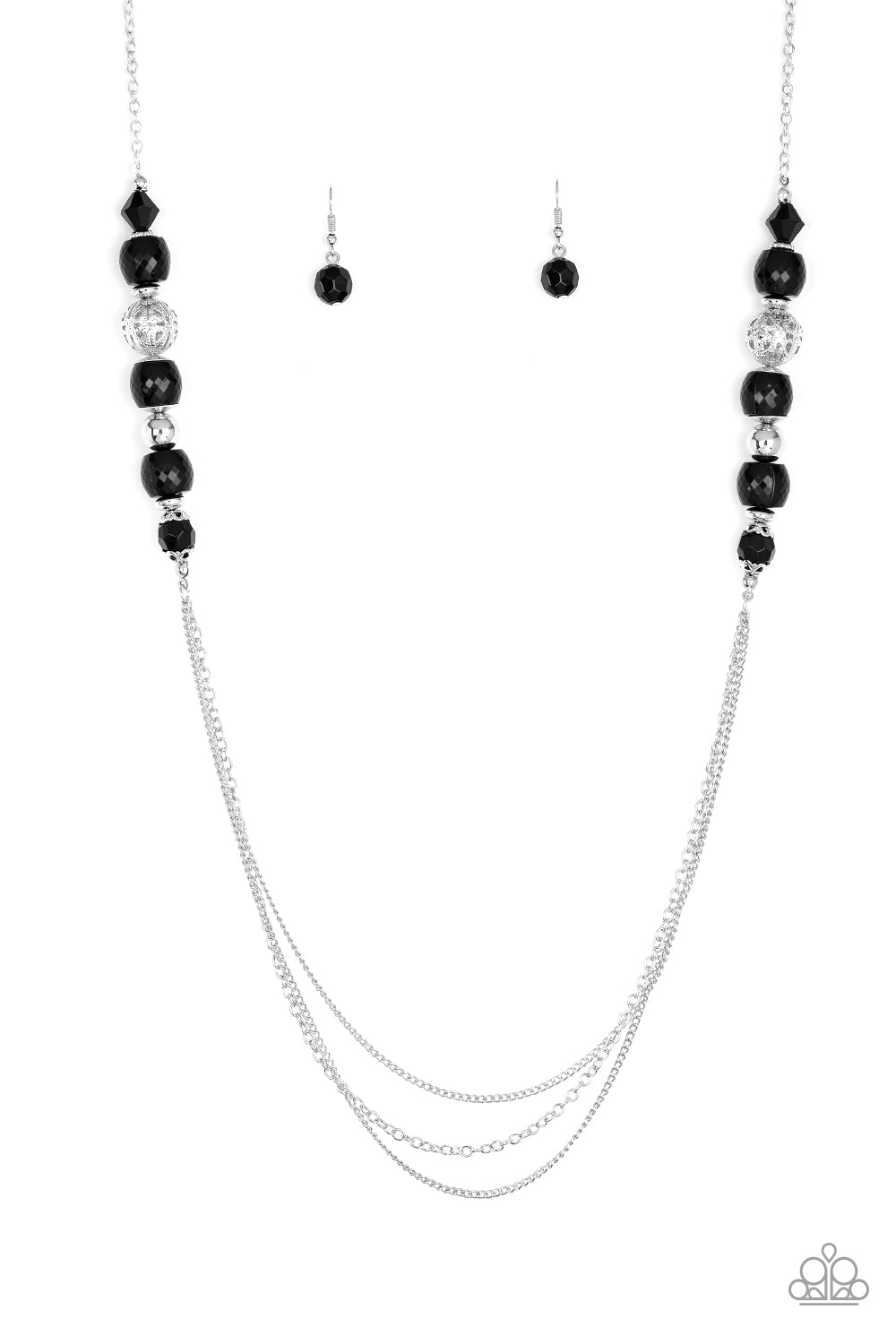 Native New Yorker - Black Necklace - The Paparazzi Fox