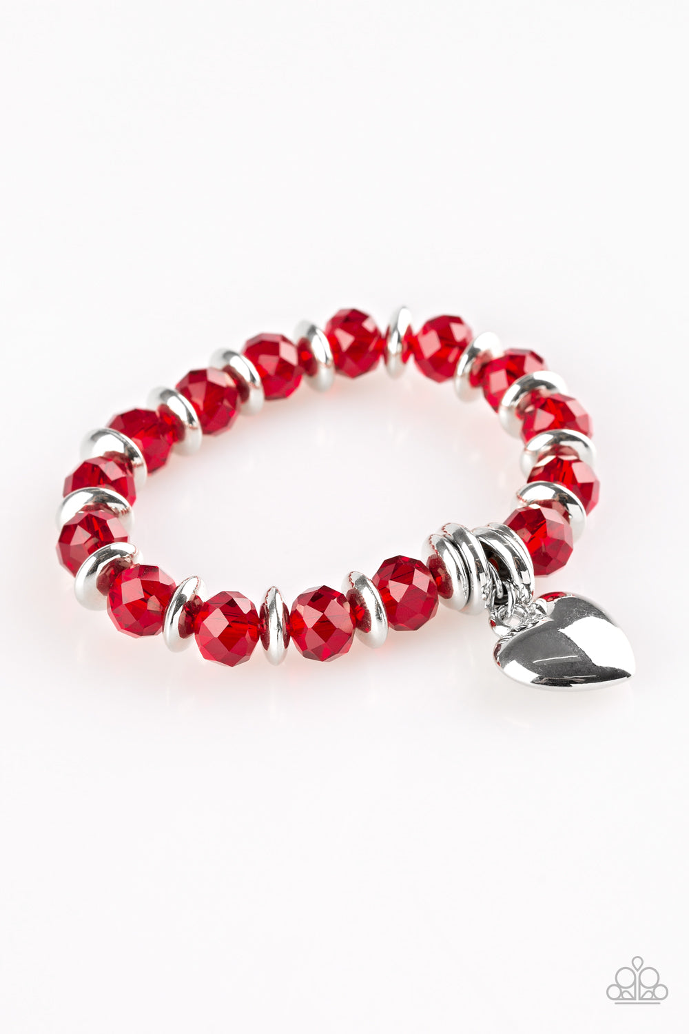 Need I Say AMOUR - Red Stretch Bracelet - The Paparazzi Fox