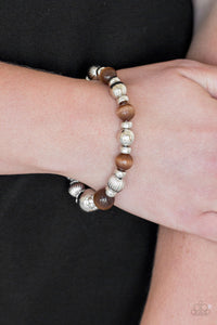 Once Upon A MARITIME - Brown Stretch Bracelet - The Paparazzi Fox