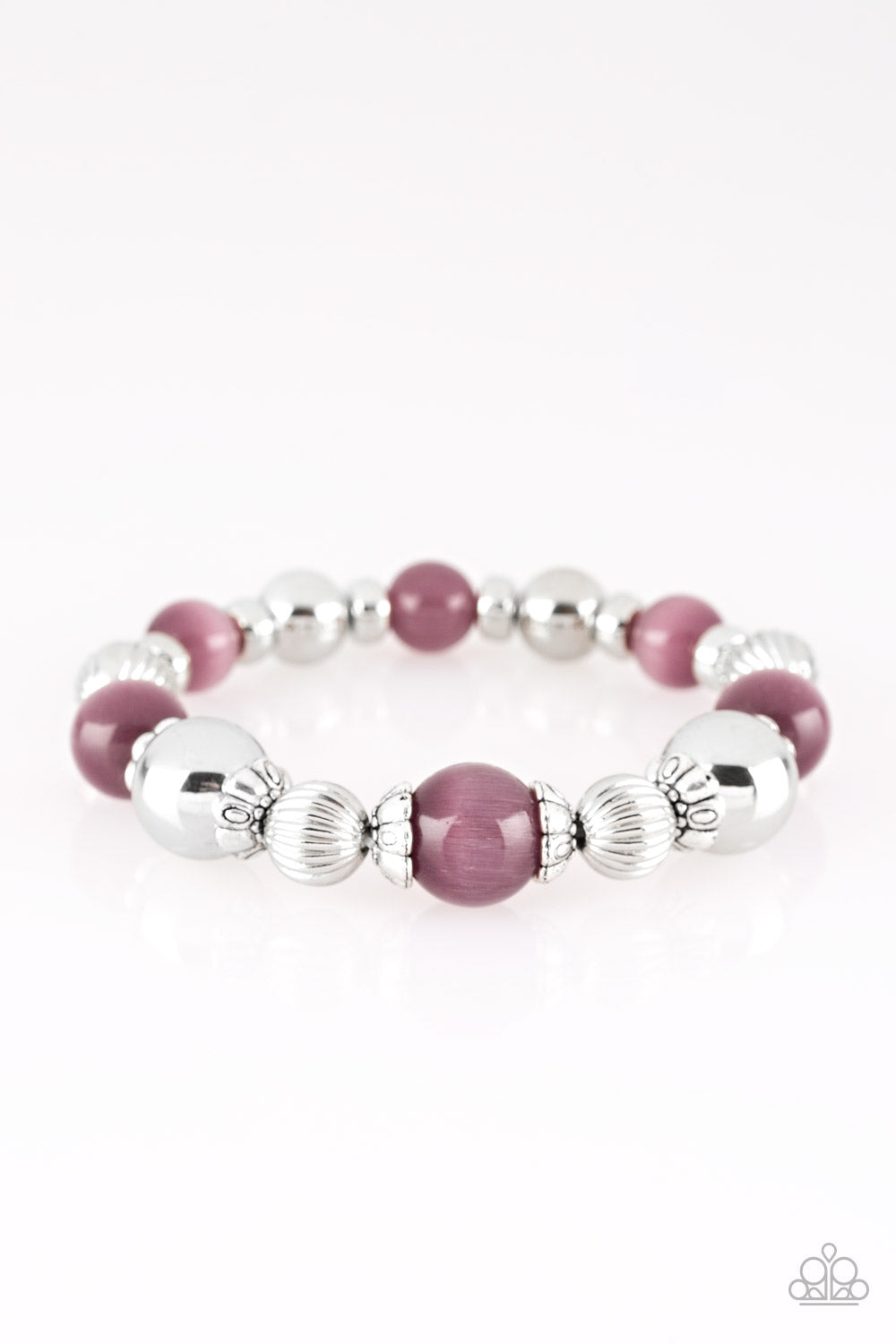 Once Upon A Maritime - Purple Stretch Bracelet - The Paparazzi Fox