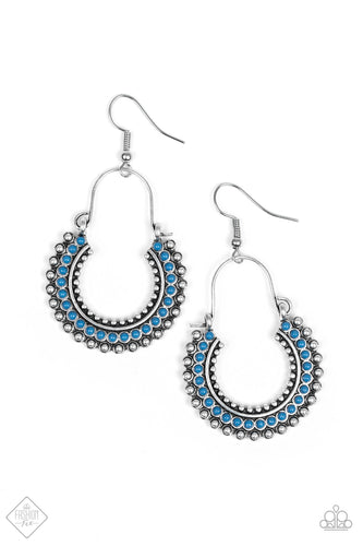 Really Rumba - Blue Crescent Earrings - The Paparazzi Fox