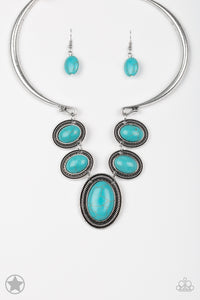 River Ride Blue Turquoise Necklace Paparazzi
