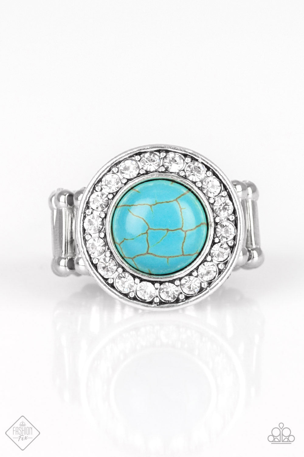 Rugged Radiance - Turquoise Ring - The Paparazzi Fox