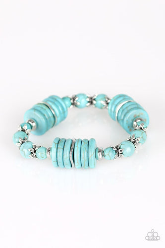 Sagebrush Serenade - Blue Bracelet - The Paparazzi Fox