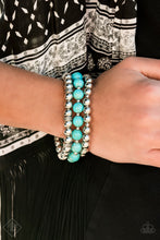 Load image into Gallery viewer, Sandstone Serendipity - Turquoise Stretch Bracelet - The Paparazzi Fox