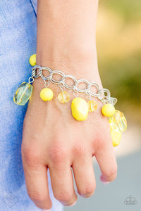 Seize The Bay Yellow Bracelet The Paparazzi Fox